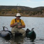 pontoon angler fighting fish