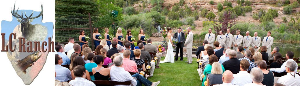 Outdoor Wedding Utah LC Ranch